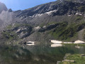 Vue sur le lac à l'arrivée