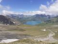 Vue sur le Lac du Mont Cenis depuis le Lac Clair