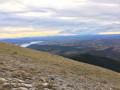 Vue sur le plateau de Valensole et le lac de Sainte Croix