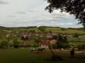 Vue sur le village de Dixmont