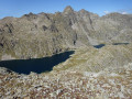 Vue sur les lacs de la Valmasque depuis la cime Bicknell