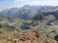 Vue sur les lacs Valscura depuis le sommet