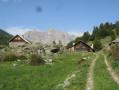 Vue sur un hameau de Névache ville haute