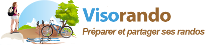 Logo Visorando : idées de randonnée (France)